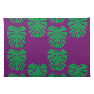 Design exotic leaves eco green placemat
