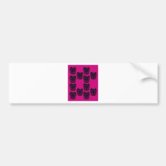 Design exotic leaves on pink bumper sticker