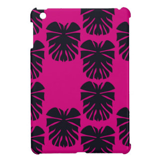 Design exotic leaves on pink iPad mini cover