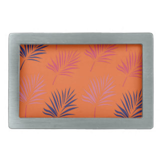 Design exotic leaves Orange Rectangular Belt Buckle