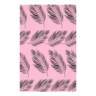 Design exotic leaves stationery