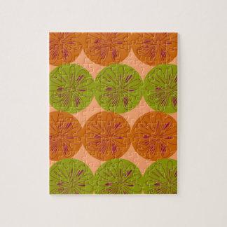 Design exotic lemons on gold jigsaw puzzle