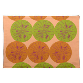Design exotic lemons on gold placemat