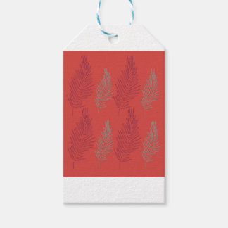DESIGN EXOTIC PALMS BEIGE GIFT TAGS