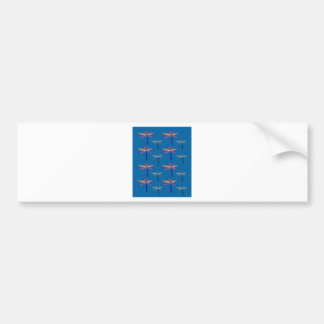 Design exotic Palms on blue Bumper Sticker