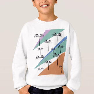 Design exotic palms with Diagonal lines Sweatshirt