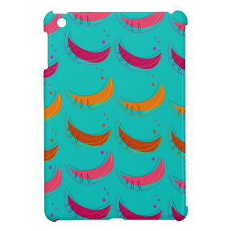 Design exotic slices Bananas Blue Case For The iPad Mini