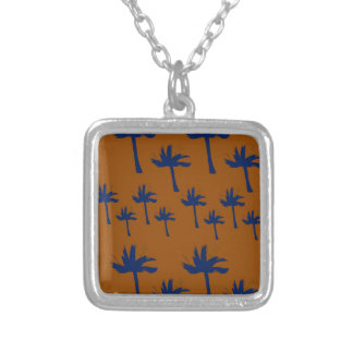 Design exotic wild Palms Silver Plated Necklace