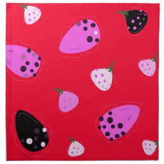 Design  Figs wild  Red Napkin