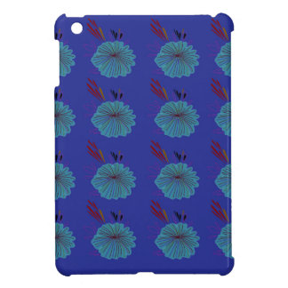 Design  flowers blue case for the iPad mini