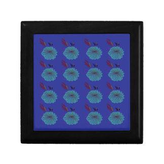 Design  flowers blue gift box