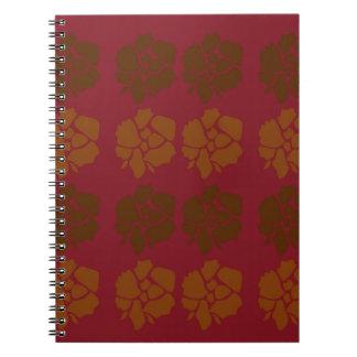 Design  flowers ethno brown notebook