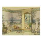 Design for a Bathroom, from 'Interieurs Modernes', Postcard