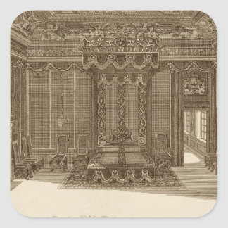 Design for a Bedchamber with a State Bed, from the Sticker