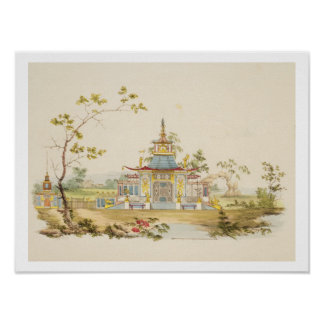 Design for a Chinese Temple, c.1810 (pen & ink and Poster