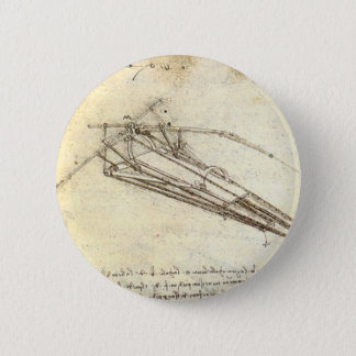 Design for a flying machine. 2 inch round button