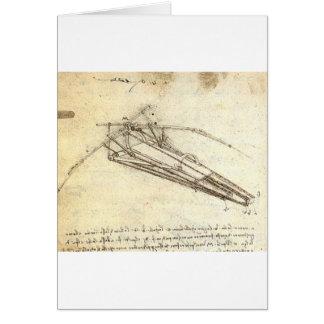 Design for a Flying Machine by Leonardo Da Vinci Card