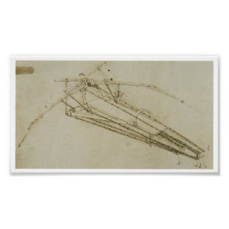 Design for a Flying Machine Leonardo da Vinci Poster