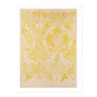 Design for a velvet or silk brocatelle, 1850 (penc postcard