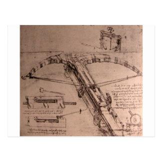 Design for an enormous crossbow postcard