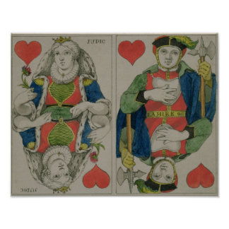 Design for playing cards, c.1810 poster