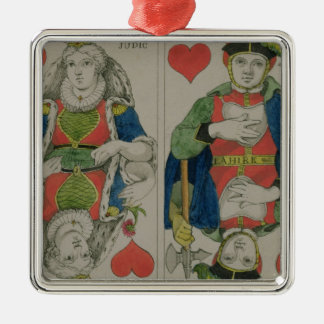 Design for playing cards, c.1810 Silver-Colored square ornament