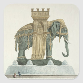 Design for the Elephant Fountain Square Sticker