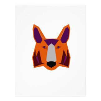 Design  fox on white letterhead