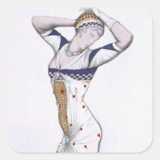 Design from A Fantasy of Modern Costume, 1912 (col Square Sticker