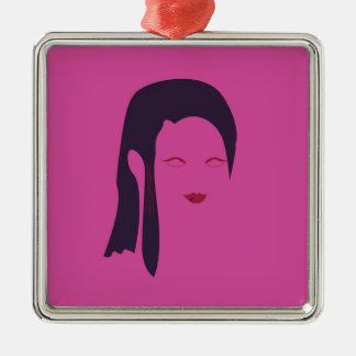 Design geisha Ethnic pink Metal Ornament