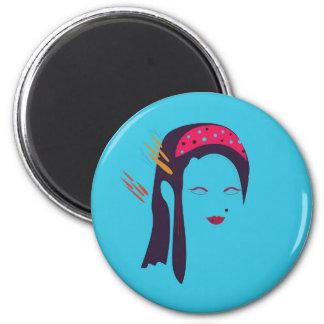 Design Geisha on blue Magnet