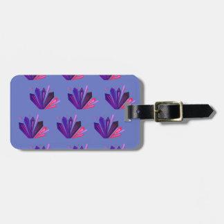 Design gems on blue edition luggage tag