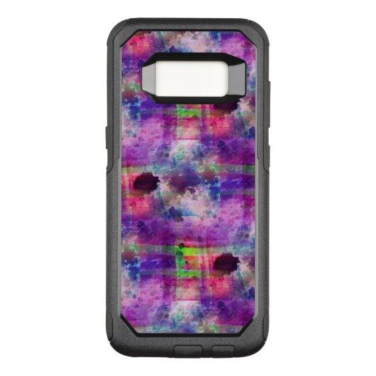 Design green, purple texture watercolor OtterBox commuter samsung galaxy s8 case