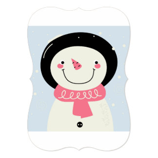 Design greeting with Snowman Card