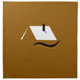 Design home gold white napkin
