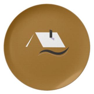 Design home gold white plate