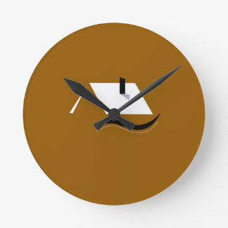 Design home gold white round clock