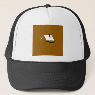 Design home gold white trucker hat