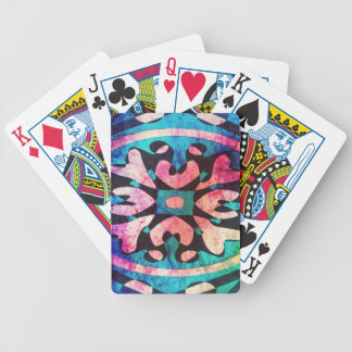 Design in colorful background bicycle playing cards