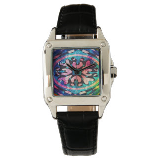 Design in Colorful background Wrist Watch