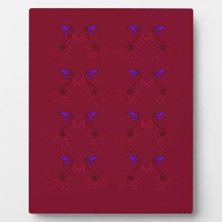 Design lace Ethno  Red Plaque