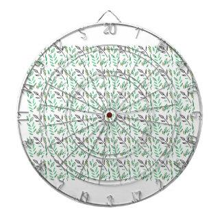 Design leaves edition green white dartboard