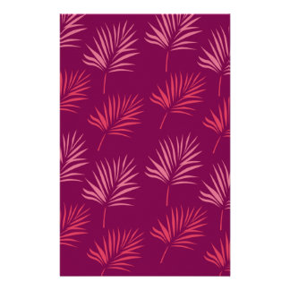 Design leaves Exotic pink Stationery