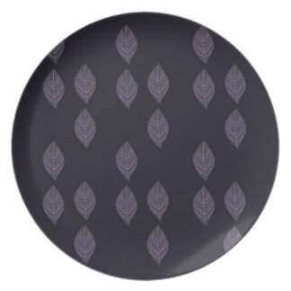 Design leaves on Black Plate