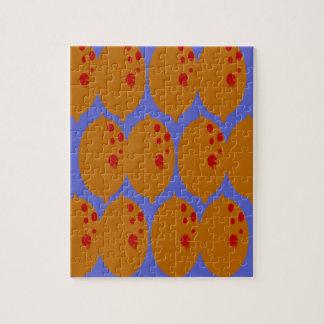 Design lemons gold on blue jigsaw puzzle