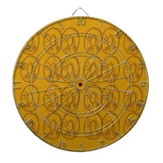 Design lemons gold vintage dartboard