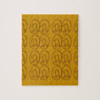 Design lemons gold vintage jigsaw puzzle