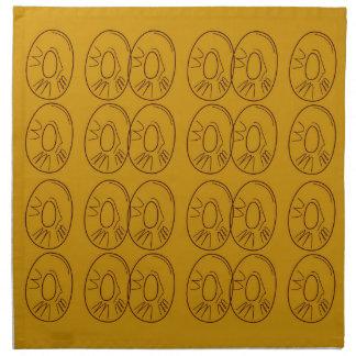 Design lemons gold vintage napkin