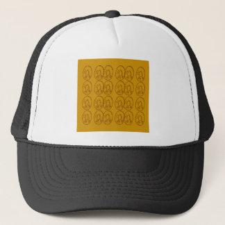 Design lemons gold vintage trucker hat
