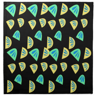 Design lemons on black napkin
